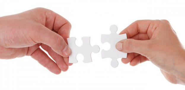 Picture of pieces of a jigsaw together