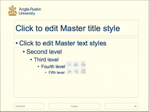 Screenshot of a Microsoft PowerPoint layout