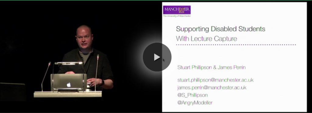 Supporting disabled students with lecture capture presentation