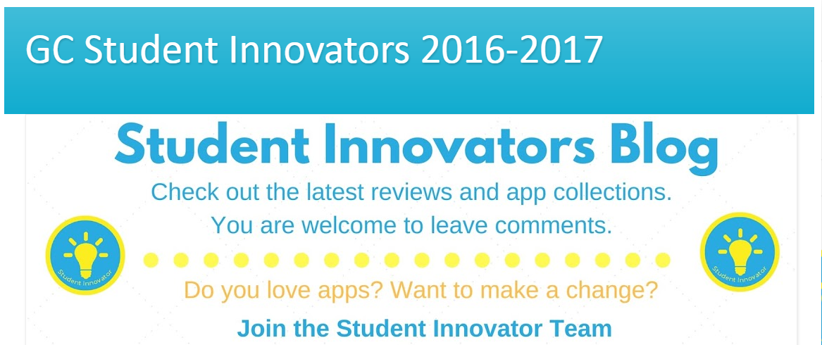 Student innovators blog banner head