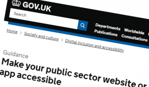 screenshot of gov.uk guidance
