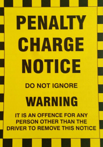 Image of parking ticket